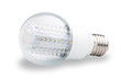 LED lights bulb isolated of white
