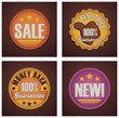Vector shopping badges set