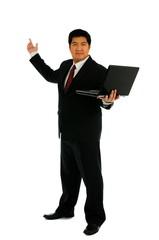 Businessman recommend