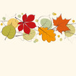 Autumn leaves card background