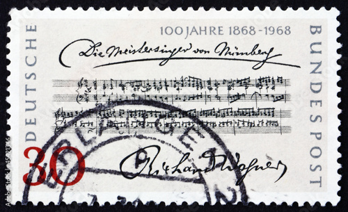 Postage stamp Germany 1968 Opening Bars, Die Meistersinger von N
