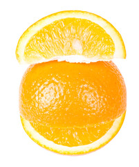 The smiling orange with a slice