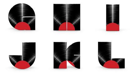 Vinyl alphabet G H I J K L