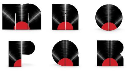 Vinyl alphabet M N O P Q R