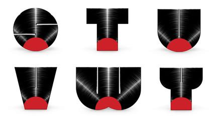 Vinyl alphabet S T U V W Y