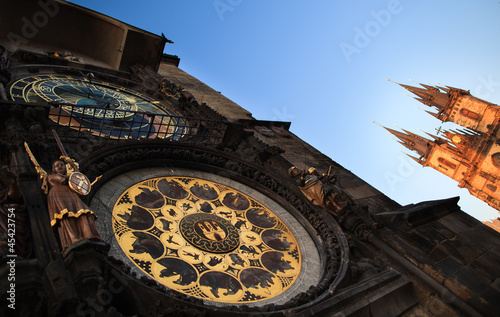 Famous Prague monuments: astronomical clock (Prague Orloj)