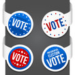 Left and right side signs - Vote. Vector illustration.
