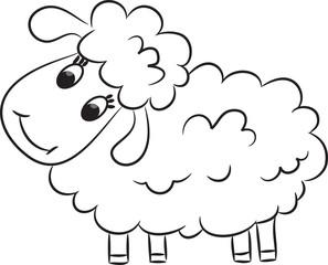 Cartoon sheep. Vector illustration