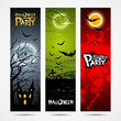 Halloween banners set design, vector illustration