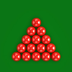 3d Red snooker ball top view