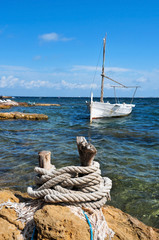 fishing boat in Formentera, Balearic Islands, Spain