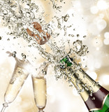 Close-up of champagne explosion - Fine Art prints