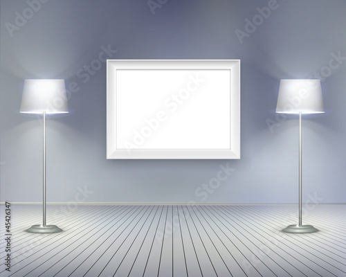 Room with picture.  Vector illustration.