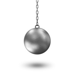 Wrecking Ball isolated on white background