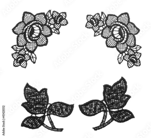 Embroidered Lace Trim Over