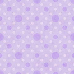 Purple and White Polka Dot Fabric Background