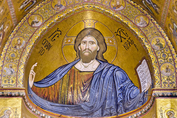 Christ Pantocrator - The Cathedral of Monreale, Sicily, Italy.