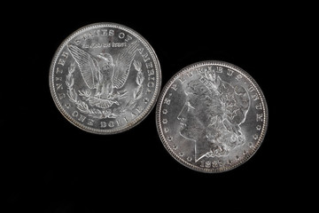 Front and backside of high quality Silver Dollar