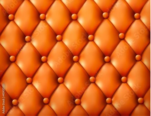 Staande foto Leder Brown button-tufted leather background. Vector