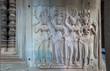 Apsara dancers, bas-relief of Angkor, Cambodia