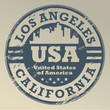 Grunge rubber stamp with name of California, Los Angeles, vector