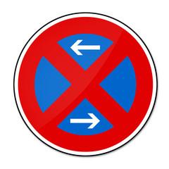 Verbotsschild - absolutes Halteverbot rechts und links
