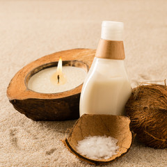 Spa coconut body products