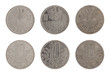 Old Austrian Coins Isolated on White