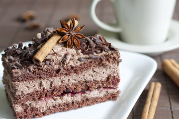 Chocolate cake gingerbread and spices