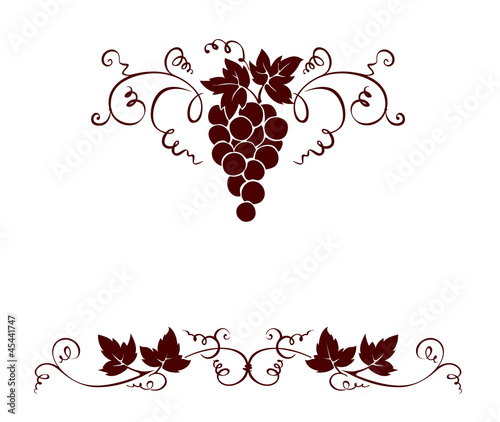 Set design elements -- grape