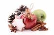 apple,cinnamon and decoration