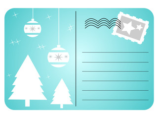 Vector illustration of christmas postcard