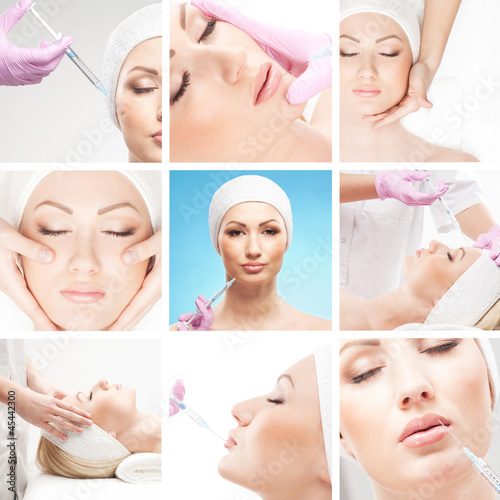 A collge of young women on spa and botox procedures
