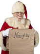 santa claus with a list