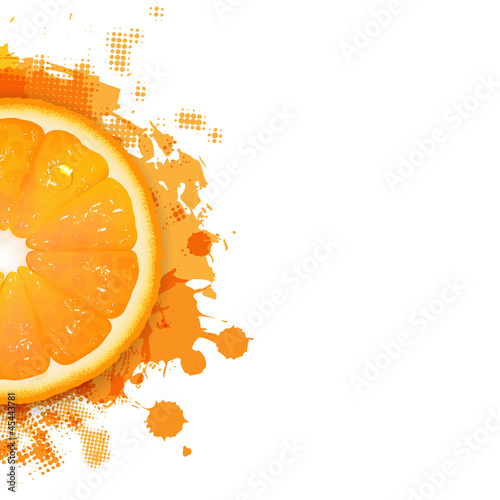 Orange With Orange Blobs