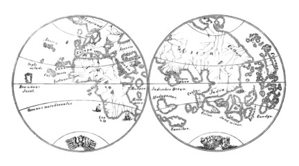 Earth Map - 15th century : before Ch. Colombus