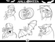 Halloween Cartoon Themes for Coloring