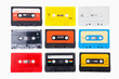 Collection of retro audio cassettes