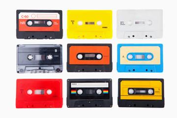 Collection of retro audio cassettes