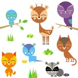 Cute animal set (raster version)