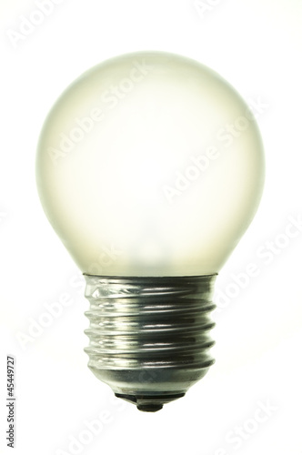 light bulb isolated on pure white background
