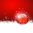 Hintergrund, Weihnachten, Rot, Kugel, Vorlage, Kristalle, Schnee