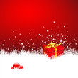 Hintergrund, Weihnachten, Geschenk, Weihnachtsgeschenk, Rot, Eis