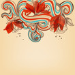 Beautiful romantic floral background vector illustration