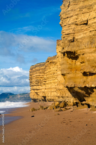Burton Bradstock beach Dorse spectacular sandstone cliffs Poster