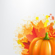 Grunge Background With Orange Pumpkin