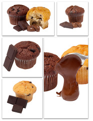 mix chocholate muffins