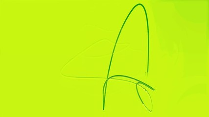 abstract silhouette of a dancing green arrows