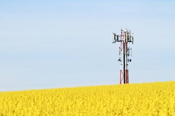 Gsm transmitter on a field