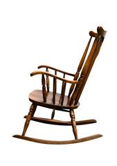 Vintage Damaged Rocking Chair - Left Side